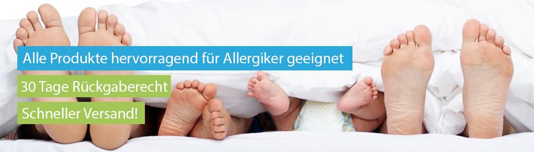 Alle Produkte hervorragend für Allergiker geeignet
